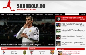 Interface Skorbola.co